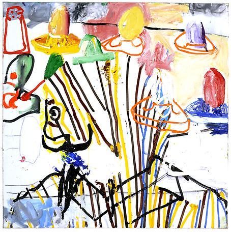 Oroliga frågor i en svår tid 2010 oil on canvas 100 x 100