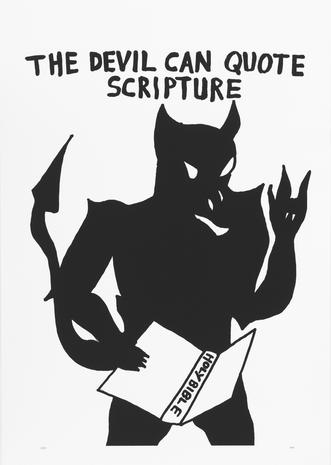 The Devil can quote scripture 2014 silkscreen 80 x 62 cm Ed.20  SEK 5000