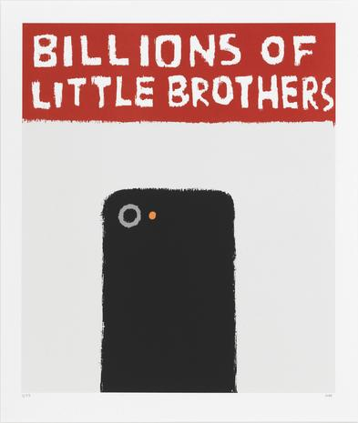 Billions of little brothers 2014 silkscreen 67 x 60 cm Ed.25  SEK 5000