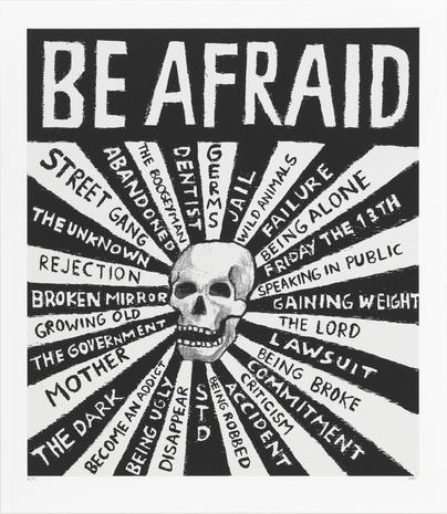 Be afraid 2014 silkscreen 63 x 60 cm Ed. 25  SEK 5000