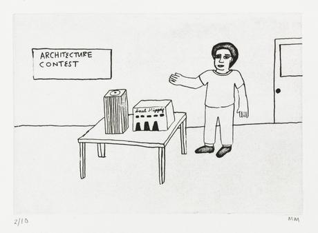 Architecture Contest 2014 etching 28 x 20 cm Ed. 10  SEK 2500