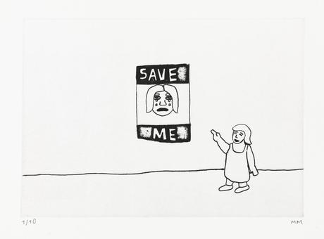 Save Me 2014 etching 28 x 20 cm Ed. 10  SEK 2500