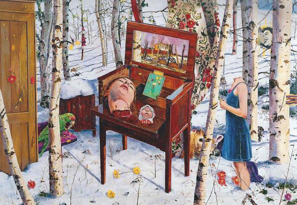 Pigtittaren 2000 oil on canvas 208 x 302 cm