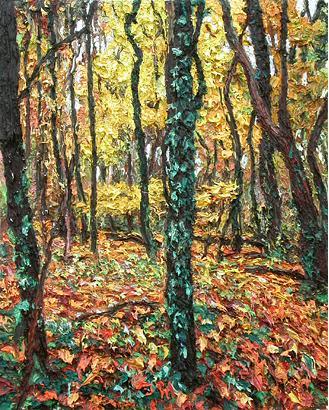 Yellow Woods 2005 oil on wood panel 51 x 40.5 cm