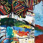 Novalis i båten  2008 oil on canvas 200 x 200 cm