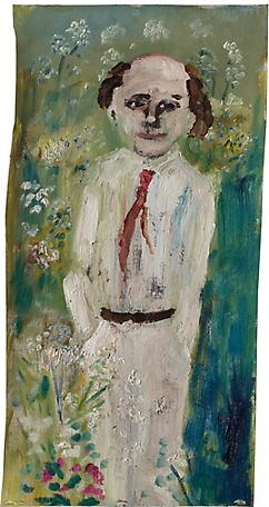 Midsommar 2005 oil on canvas 49 x 25 cm