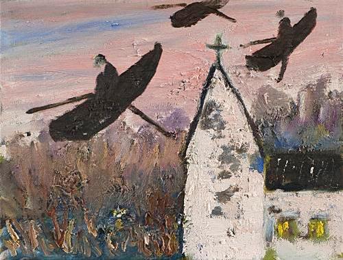 I kvällsljus 2004 oil on canvas 27 x 35 cm