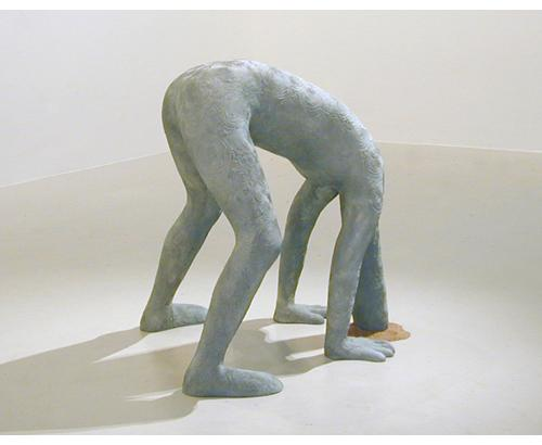 Human Ostrich  2001 bronze h:90 cm