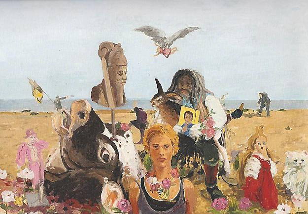 På Stranden 1997 oil on canvas 130 x 190 cm