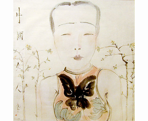 Chinese woman 2000 ink on paper 70 x 70 cm