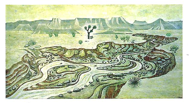 Floden  2003 mixed media 108 x 200 cm