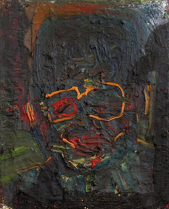 Papa Gandhi 2006 oil on canvas 100 x 81 cm