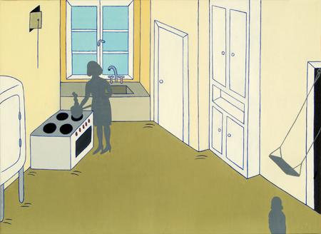 Det gamla köket (The Old Kitchen)  2008 oil on canvas 47 x 64 cm