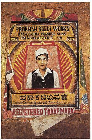 Beedi Ikon I - Prakash Beedi Woorks 1997 mixed media 120 x 81 cm