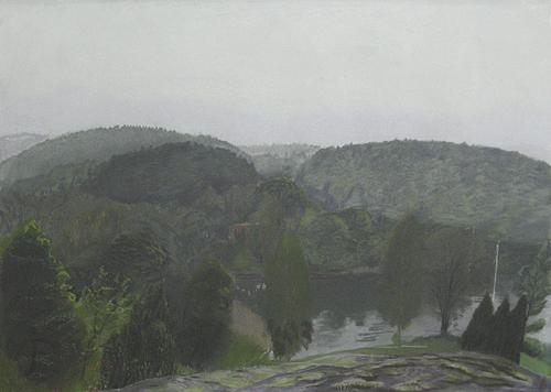 Stäket nr 1 2006 - 2007 pastel on paper 84 x 115.5 cm