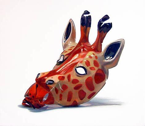 Giraffe 2000 Oil on canvas 48 x 56 cm