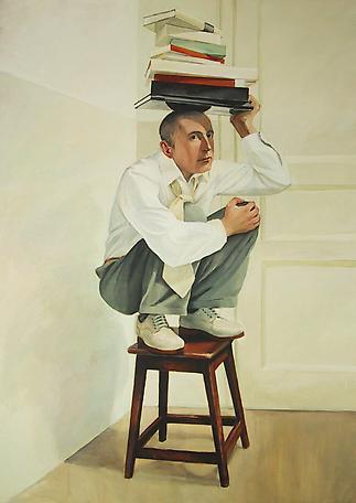 Elevé 2003 oil on canvas 210 x 144 cm