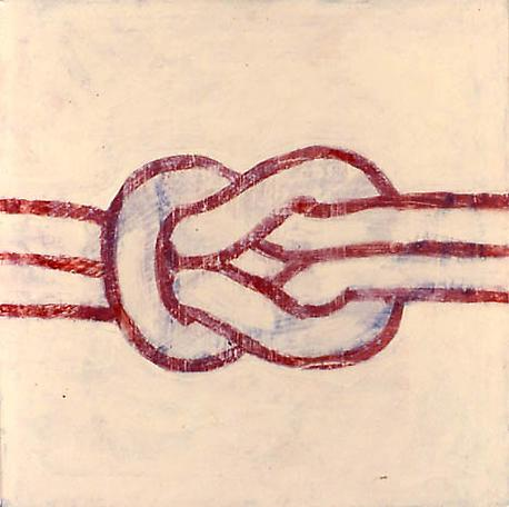 Knot 1981  acrylic & enamel on canvas  61 x 61 cm