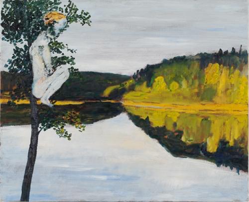 Prästsjön 2005 oil on canvas 81 x 100 cm
