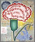 Looting the Leftovers #2  2006  acrylic & fabric collage on canvas  152.5 x 122 cm