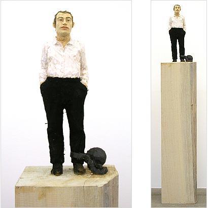 Prisoner 2003 painted wawa wood h: 168 cm