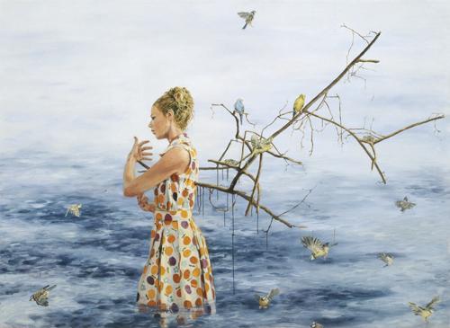 Ängeln 2008 oil on canvas 190 x 260 cm