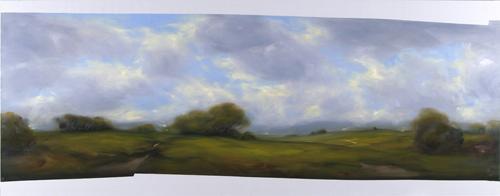 Landskap 2008 oil on canvas 150 x 390 cm