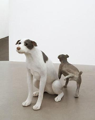 Dog's life 2009 wood, papier-maché 68 x 46 x 92 cm