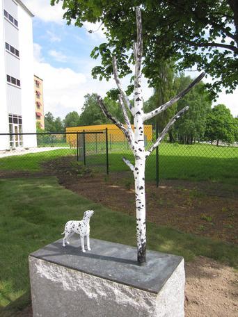 Själsfrände  2013 bronze public commission Skövde, Sweden