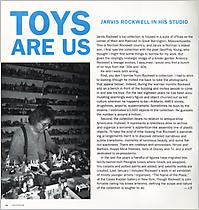 TOYS ARE US: JARVIS ROCKWELL IN HIS STUDIO