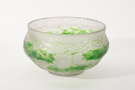Tiffany Favrile Glass <br> Intaglio Carved Bowl 2
