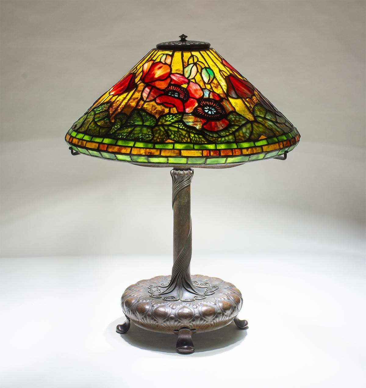 Tiffany Studios  Poppy Table Lamp 1