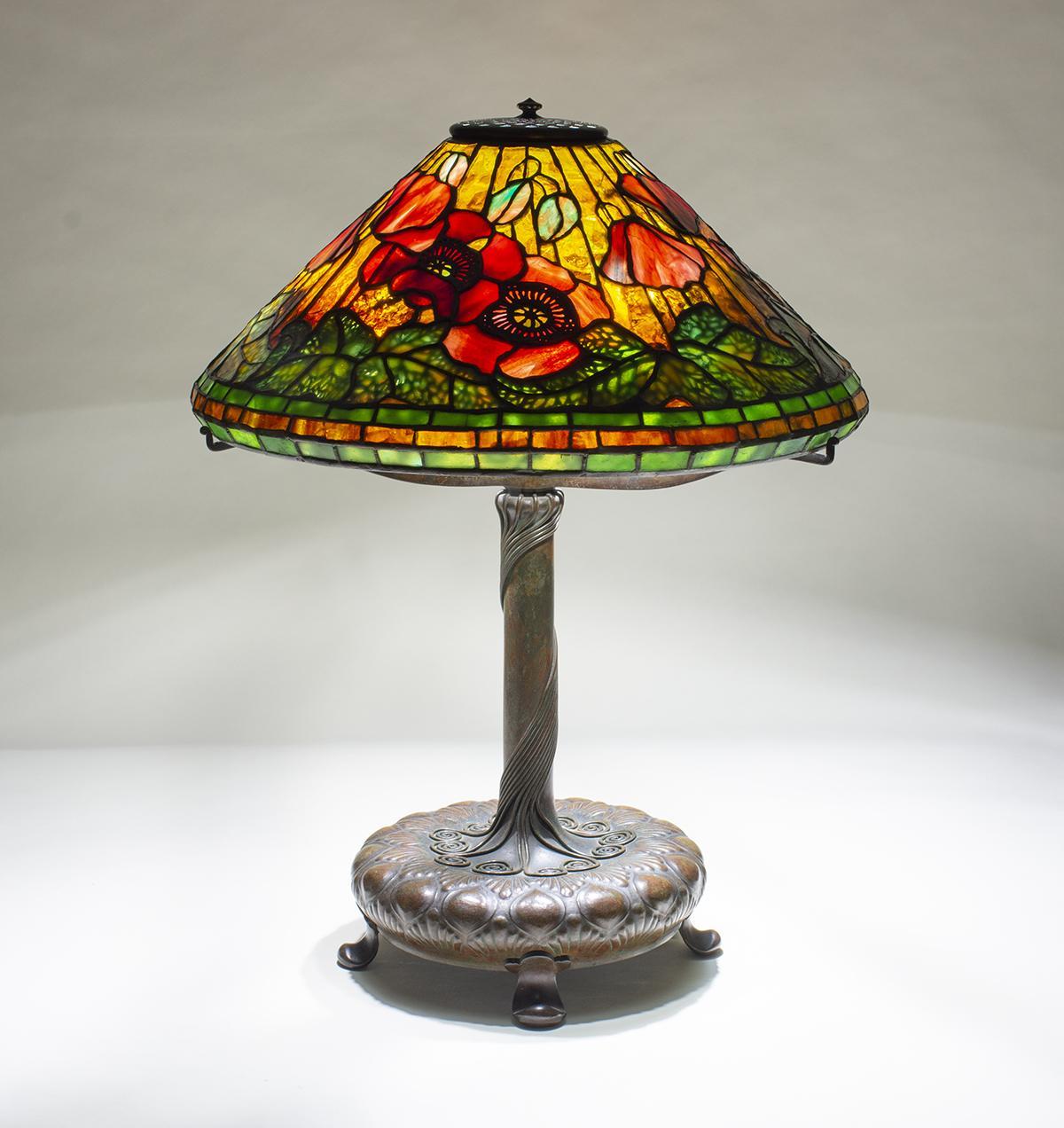 Tiffany Studios  Poppy Table Lamp 2
