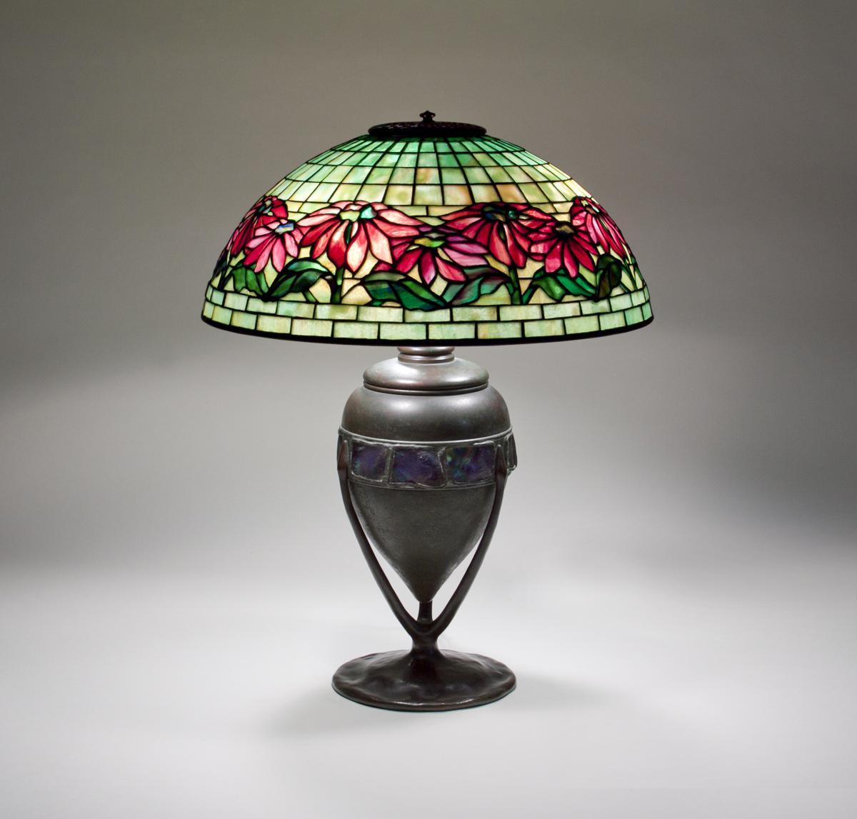 Tiffany Studios  Poinsettia Table Lamp 1