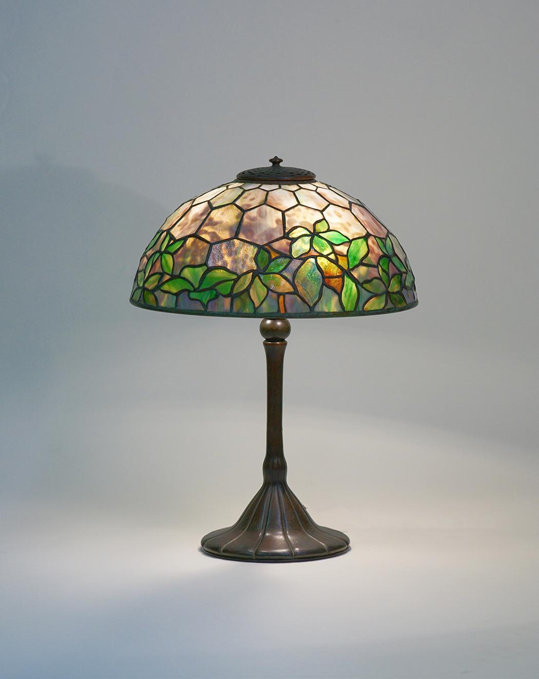 Tiffany Studios   Woodbine  Table Lamp 1