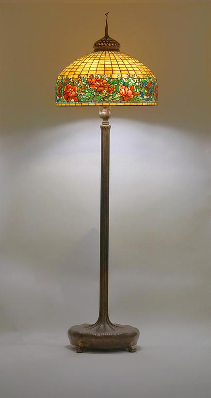 Tiffany Studios   Peony Border  Senior Floor Lamp 2