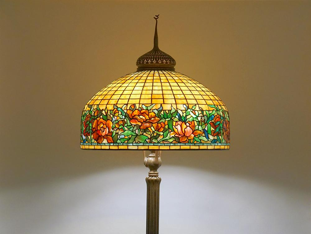 Tiffany Studios   Peony Border  Senior Floor Lamp 1