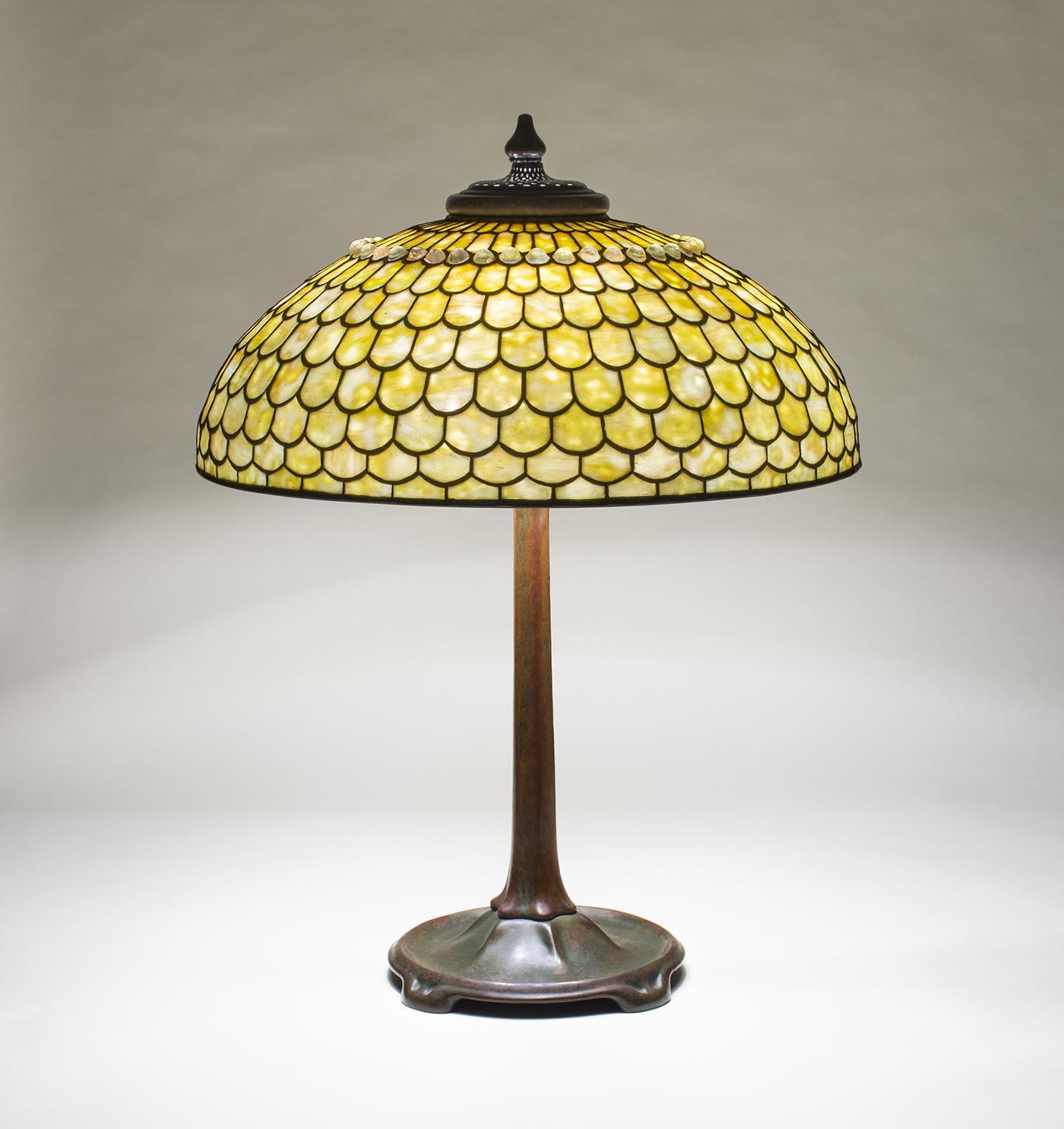 Tiffany Studios  Jeweled Fish Scale Table Lamp 1