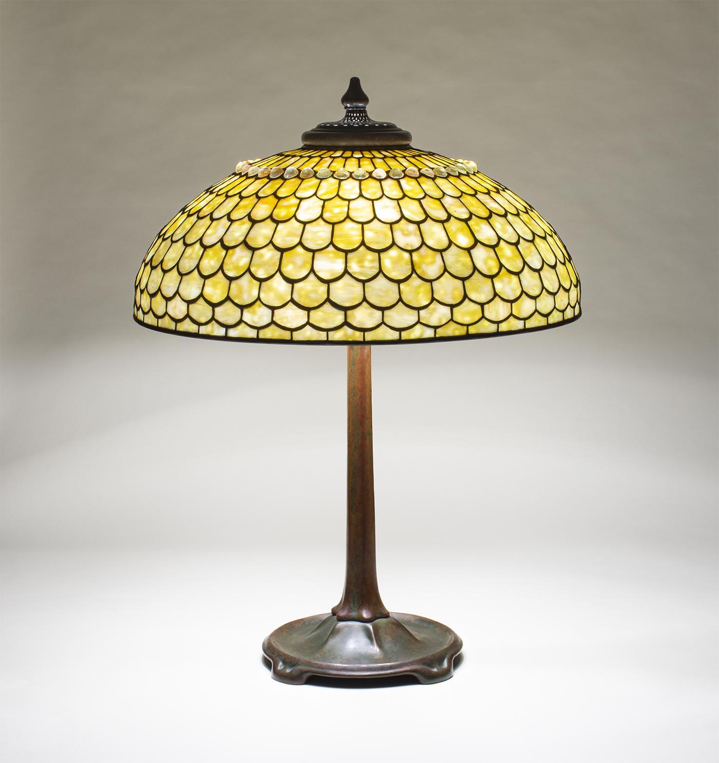 Tiffany Studios  Jeweled Fish Scale Table Lamp 2