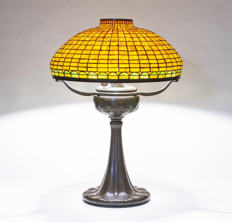 Tiffany Studios  Geometric Tyler Variant Table Lamp 1