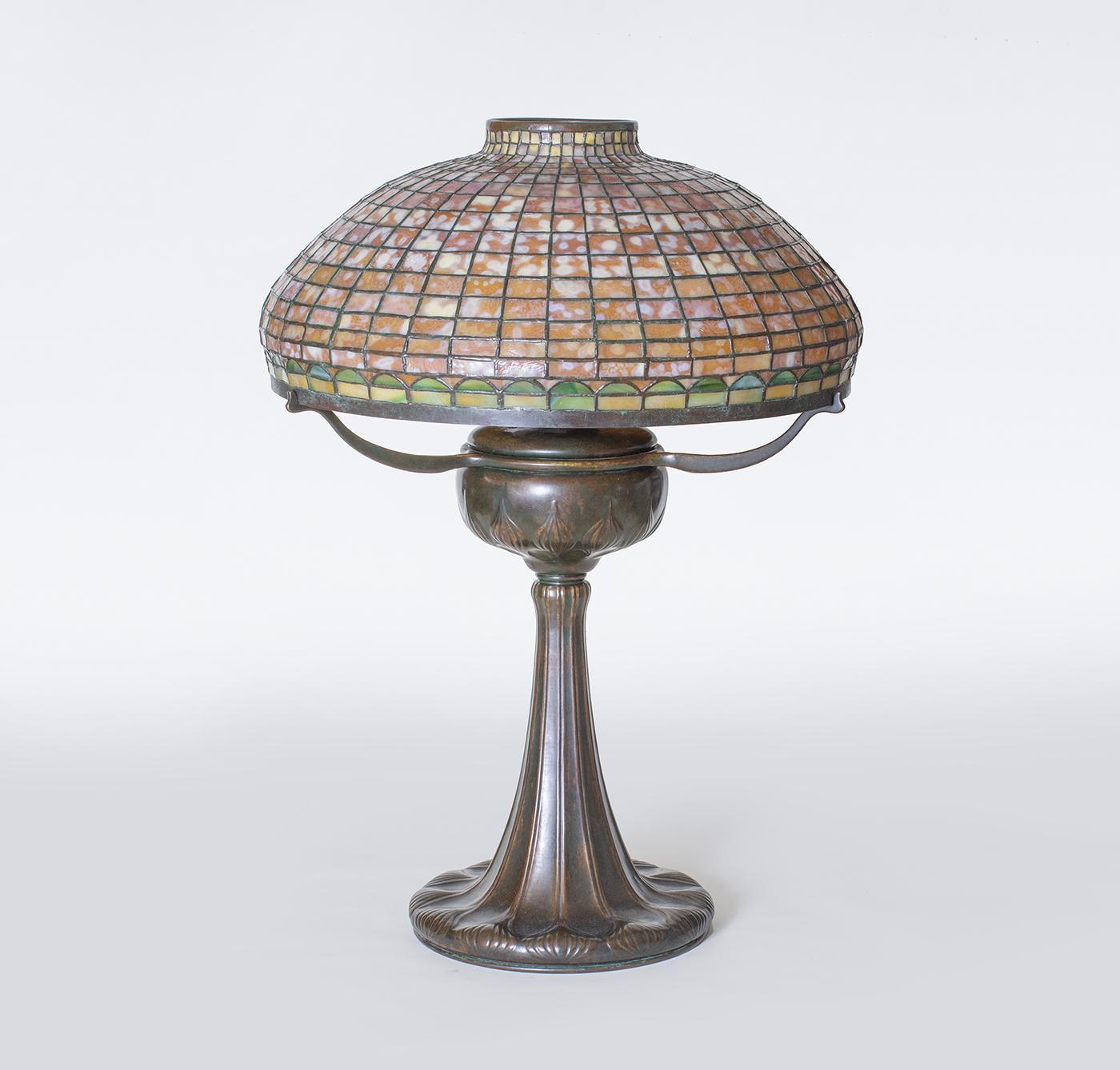 Tiffany Studios  Geometric Tyler Variant Table Lamp 2