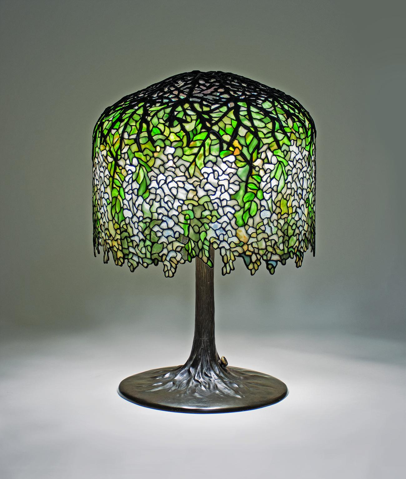 Tiffany Studios  White Wisteria  Table Lamp 1
