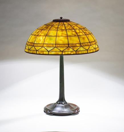 Tiffany Studios  Geometric Table Lamp 1