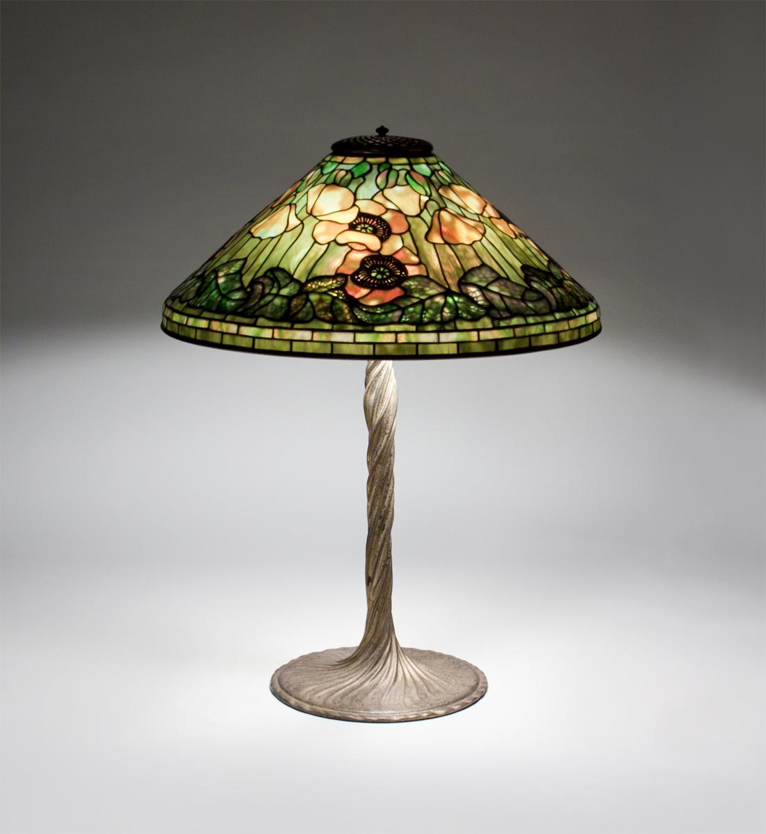 Tiffany Studios  Poppy Table Lamp 1