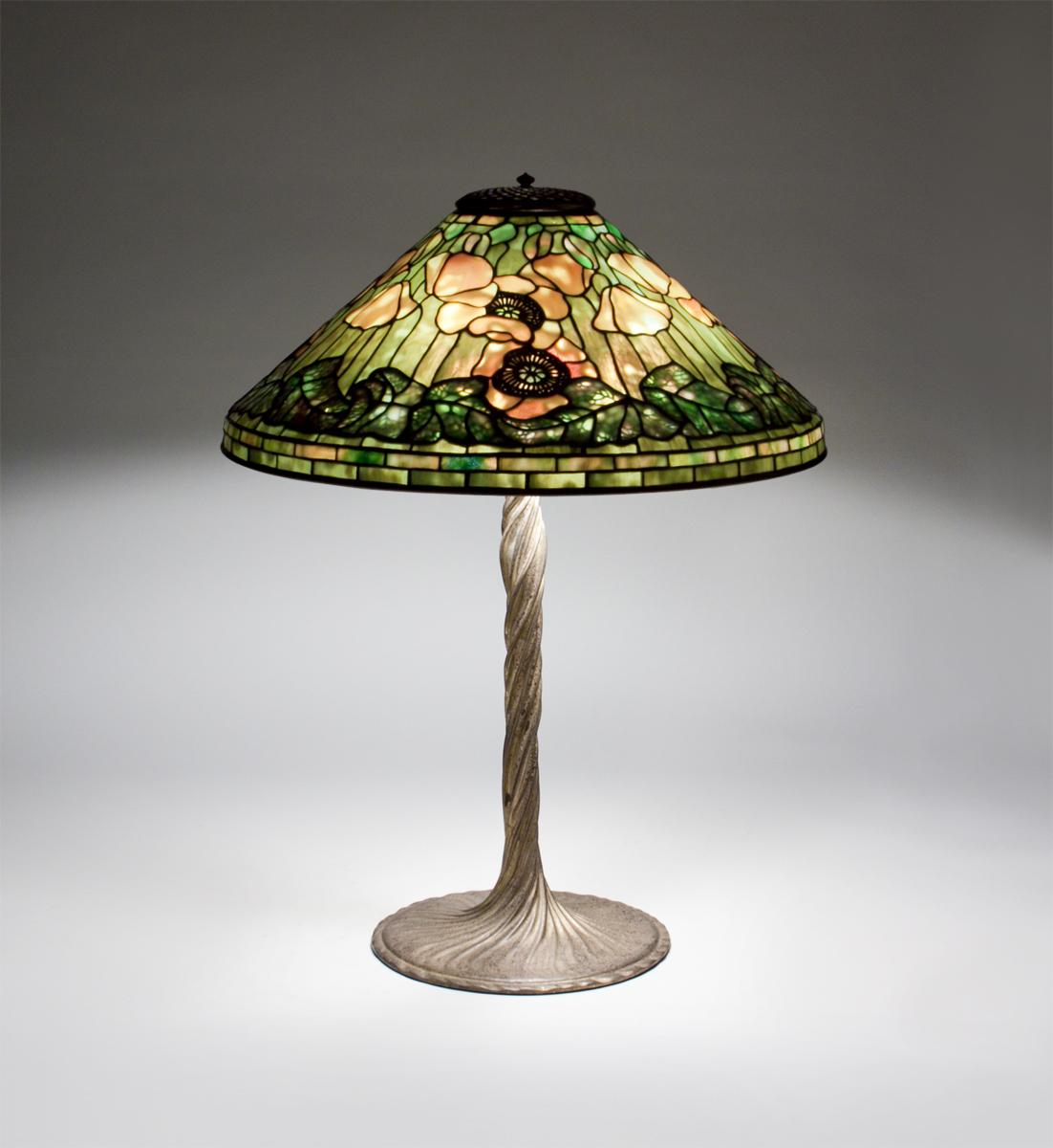 Tiffany Studios  Poppy Table Lamp 3