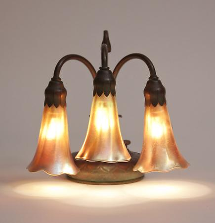 Tiffany Studios &lt;br&gt; 3-Light Lily Piano Lamp 1