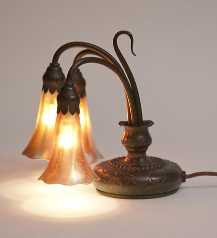 Tiffany Studios &lt;br&gt; 3-Light Lily Piano Lamp 2
