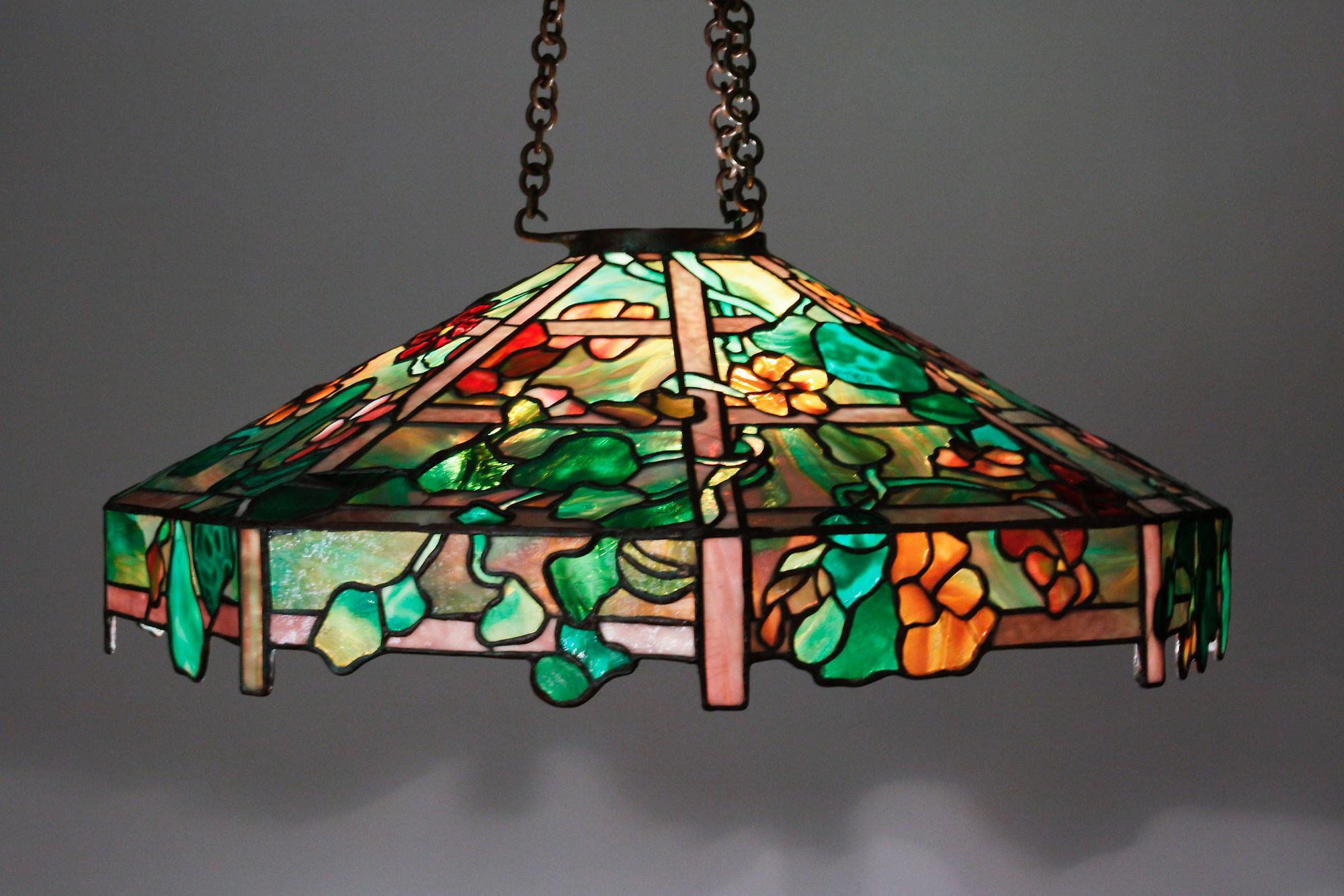Tiffany Studios Nasturtium Chandelier 4
