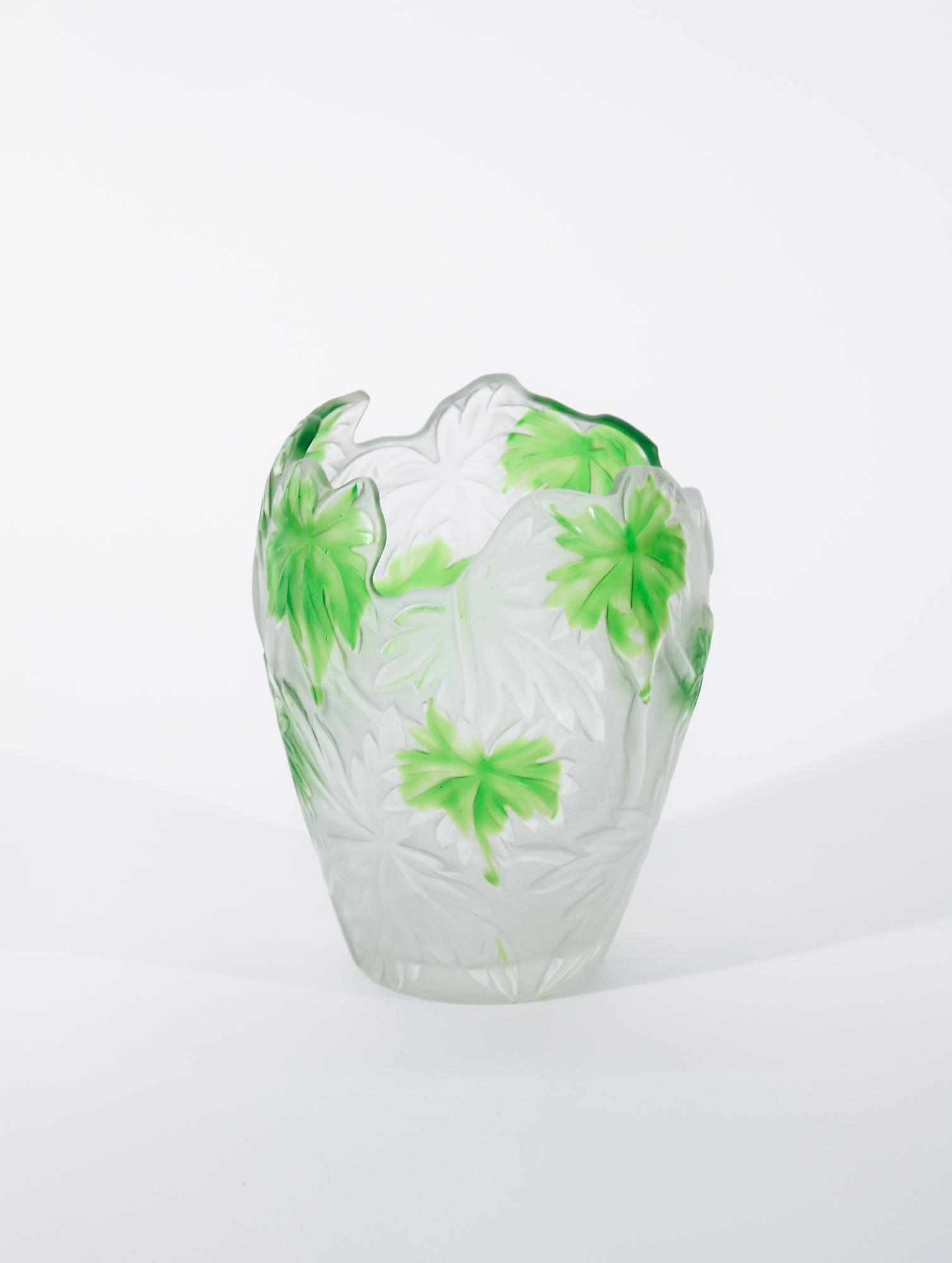 Tiffany Favrile Glass  Cameo Vase 3