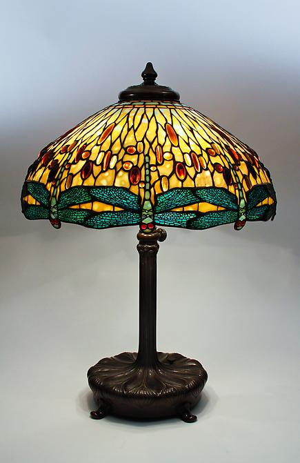 Tiffany Studios &lt;br&gt;Drophead Dragonfly Lamp 1